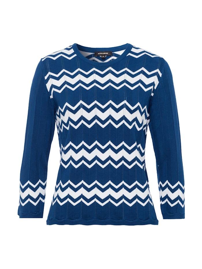 more & more - Pullover, Zick-Zack Dessin  blau