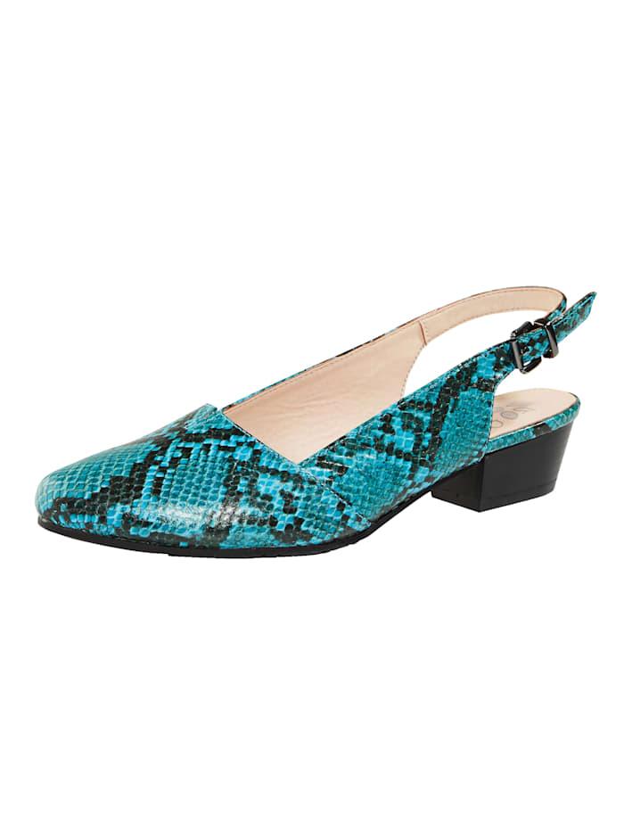 Blokhak van 3,5 cm. gladde zool. de schoenmaat wordt aangegeven in europese maten.