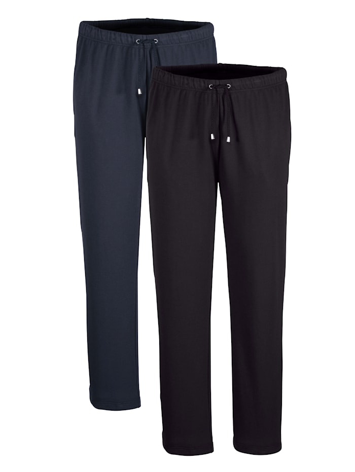 Lot de 2 pantalons de loisirs BABISTA Marine::Noir
