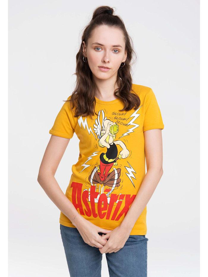 logoshirt - T-Shirt Asterix der Gallier mit lizenziertem Originaldesign  gelb