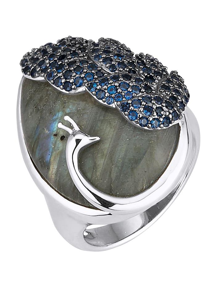 klingel - Pfau-Ring  Blau