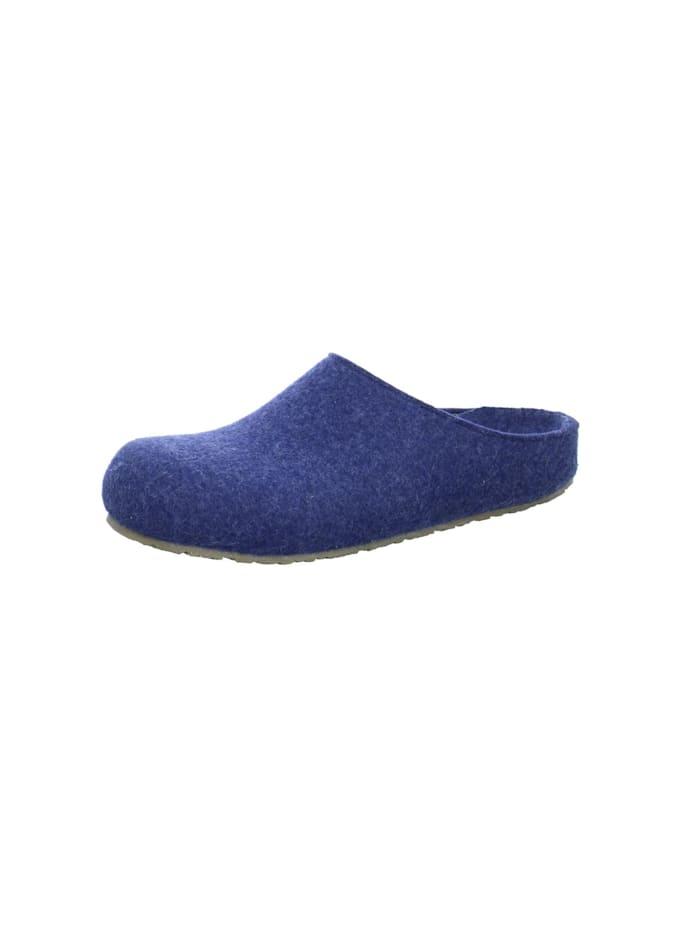 Hausschuhe Haflinger blau