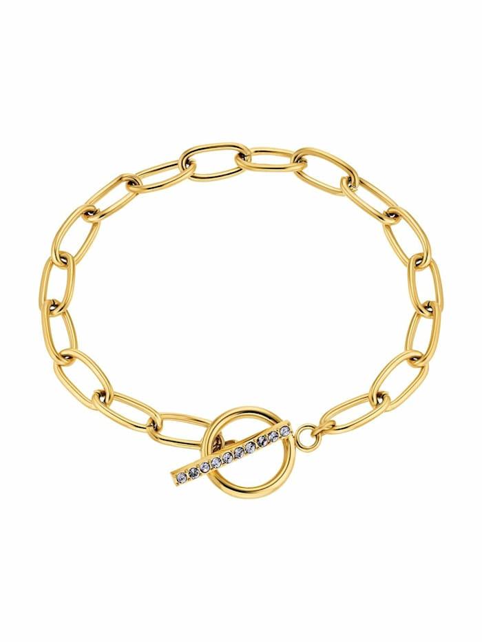 noelani - Armband für Damen, Edelstahl IP Gold   Zirkonia lila  Gold
