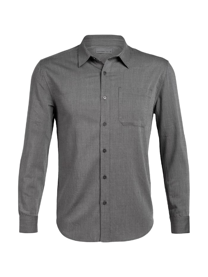 icebreaker -  Hemd Compass Flannel LS Shirt  Grau