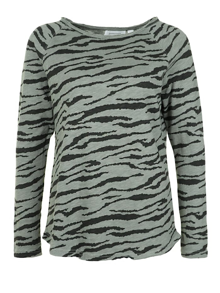 munich freedom - Longsleeve mit Zebramuster  oliv zebra