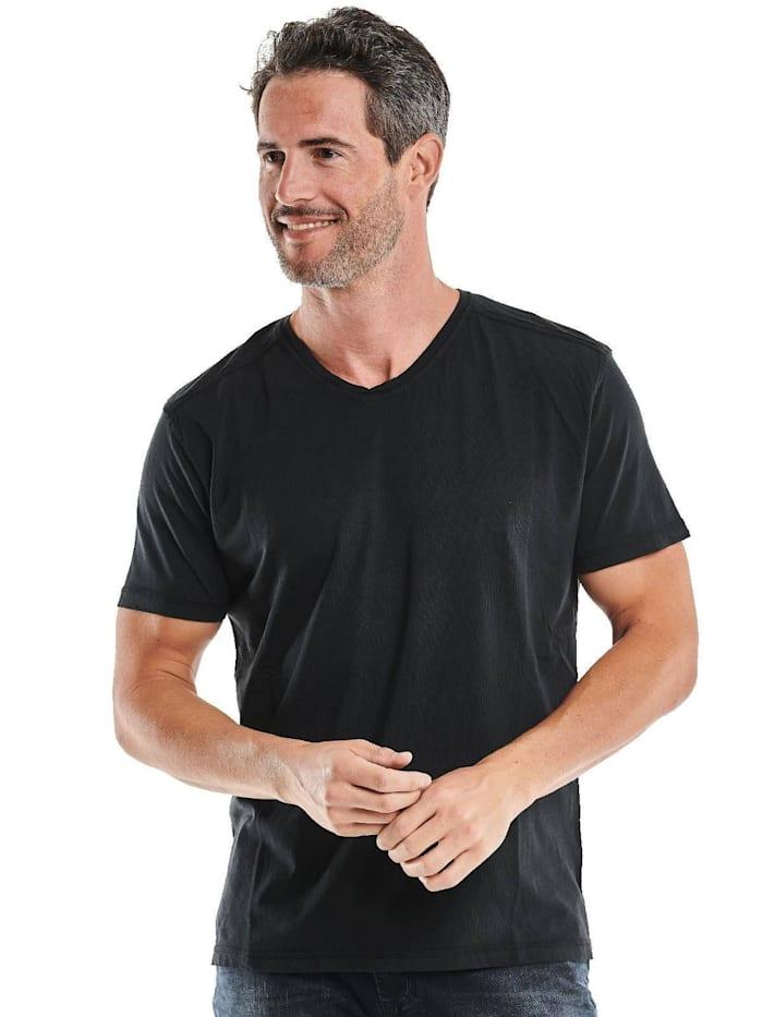 engbers - V-Neck T-Shirt  Schwarz