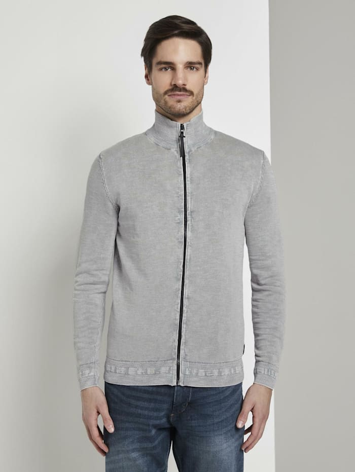 tom tailor - Strukturierte Strickjacke  Artemis Grey