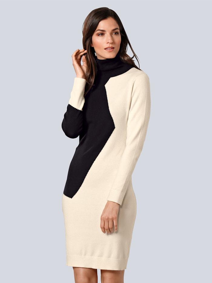 alba moda - Kleid  Schwarz::Creme-Weiß