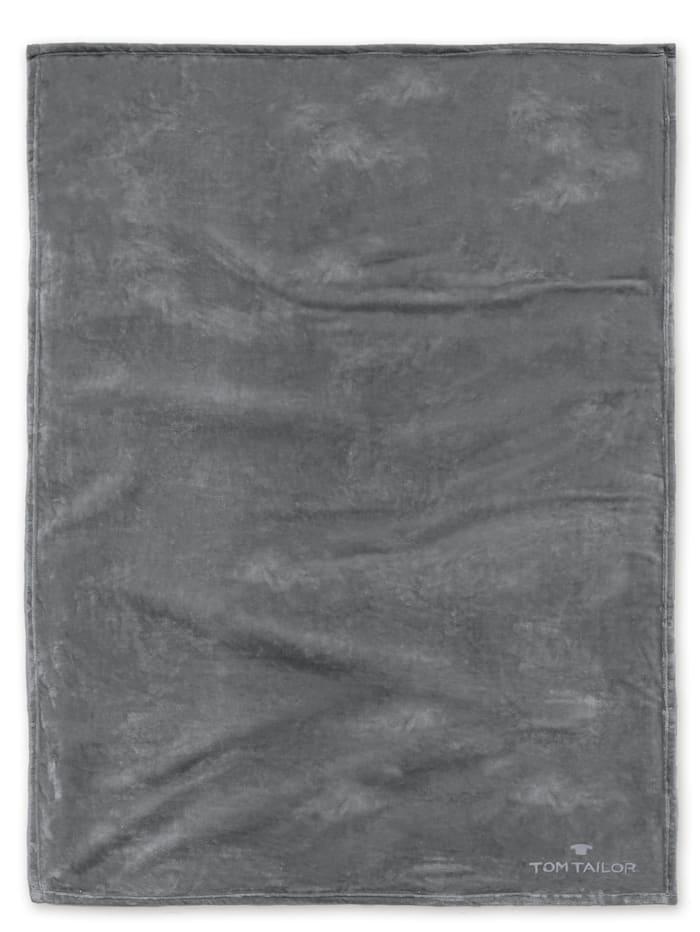 Image of Angorina-Fleece Decke Tom Tailor dkl. grau