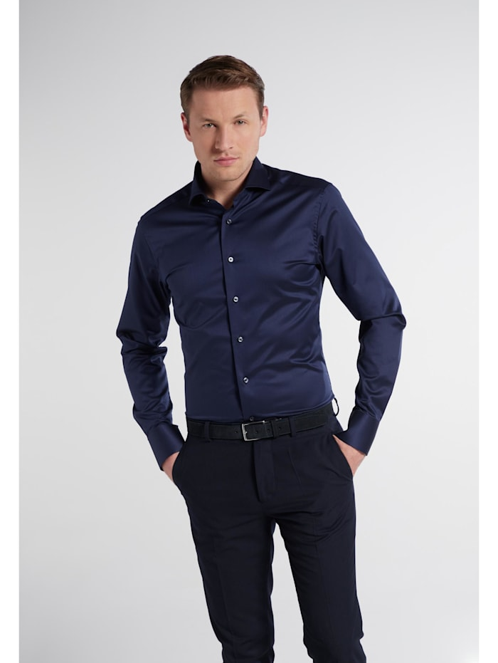 eterna -  Langarm Hemd SLIM FIT  blau