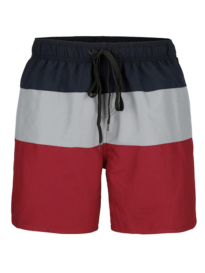 Zwemshort Maritim Grijs::Bordeaux::Marine