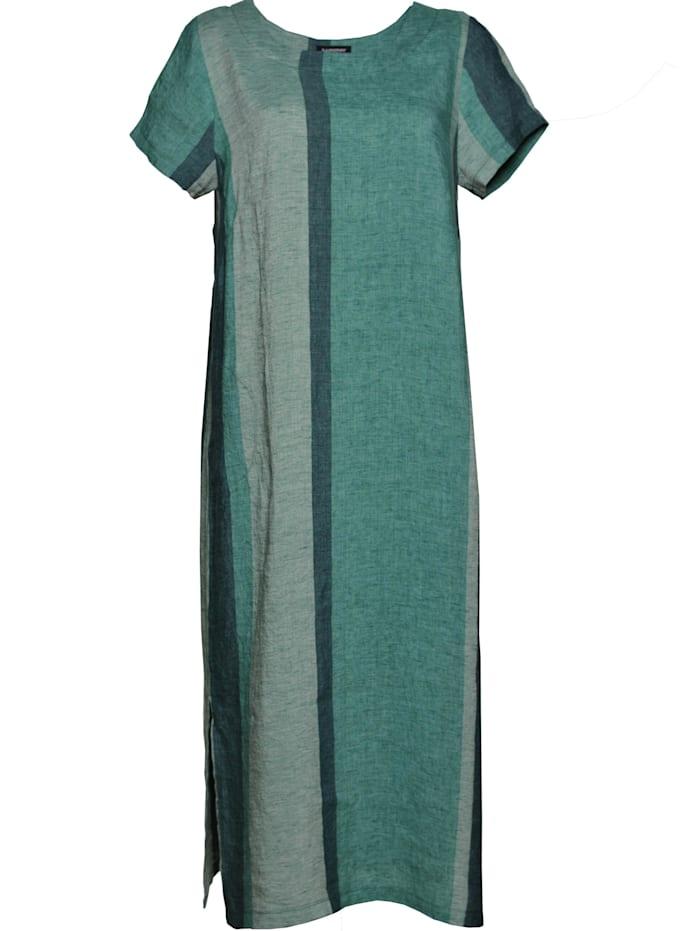 sammer berlin - Leinen-Kleid Streifen Leinen-Kleid Streifen  streifen grün