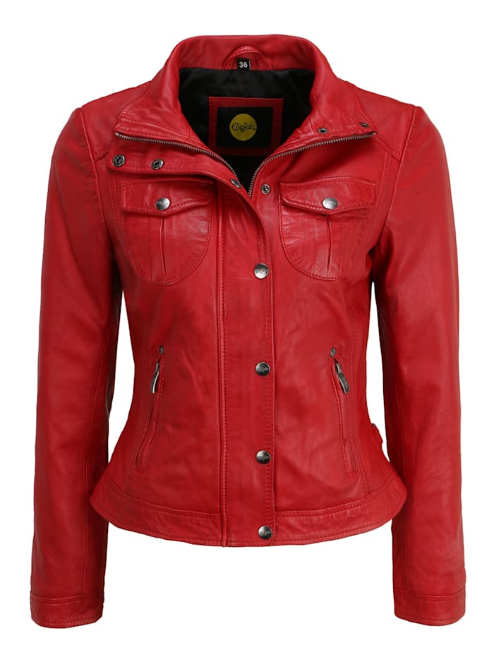 buffalo - Lederjacke BE Wonderful  red