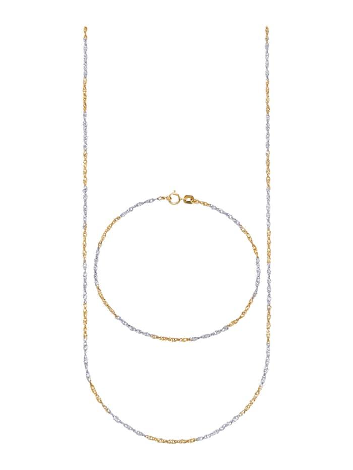 2-delige sieradenset KLiNGEL Geelgoudkleur