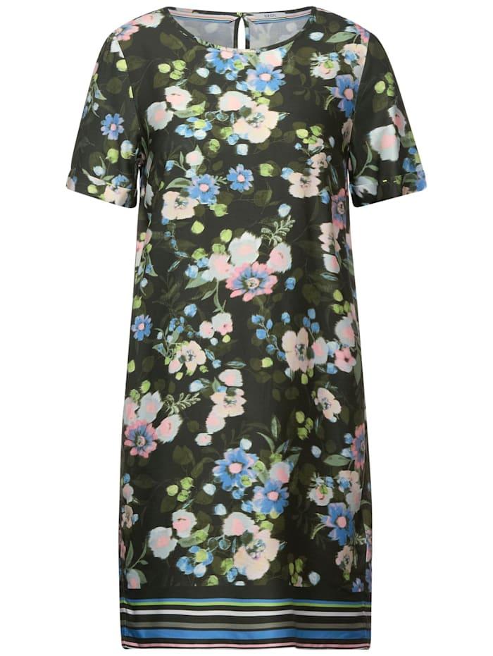 cecil - Kleid mit Blumen Print  utility olive