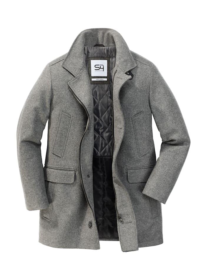 s4 - Wollmantel Sherlock Holmes  light grey melange