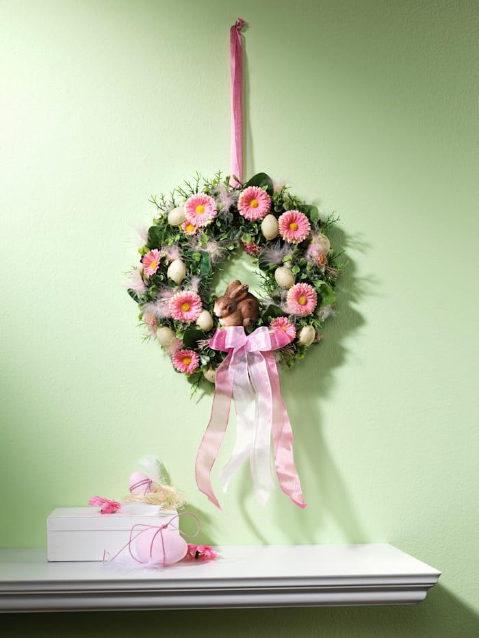 Deurkrans Haasje Tewa roze