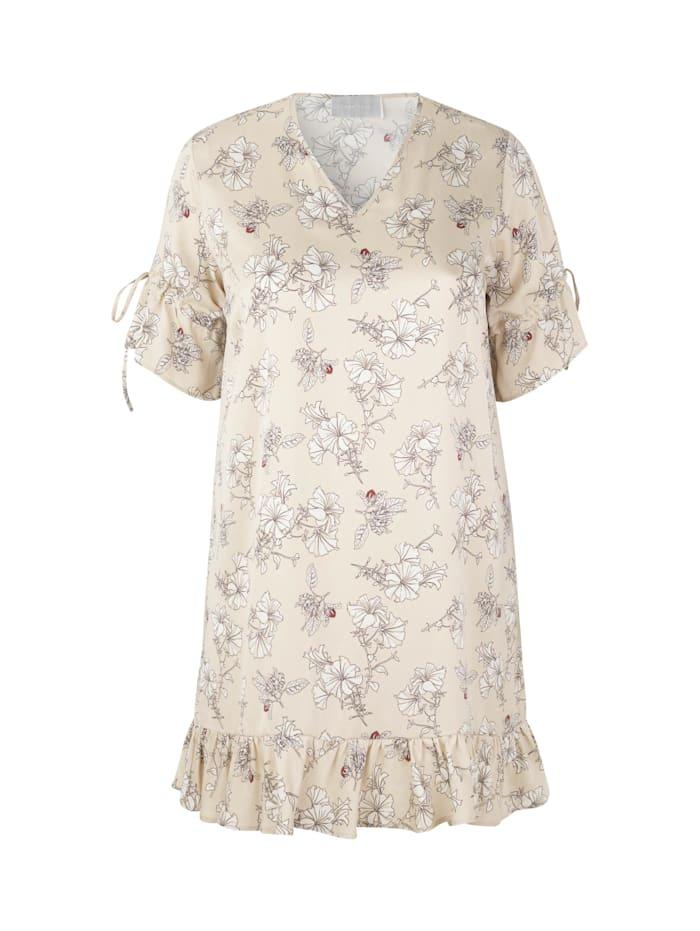 inan isik - Seidenkleid Rosa Dress  beige