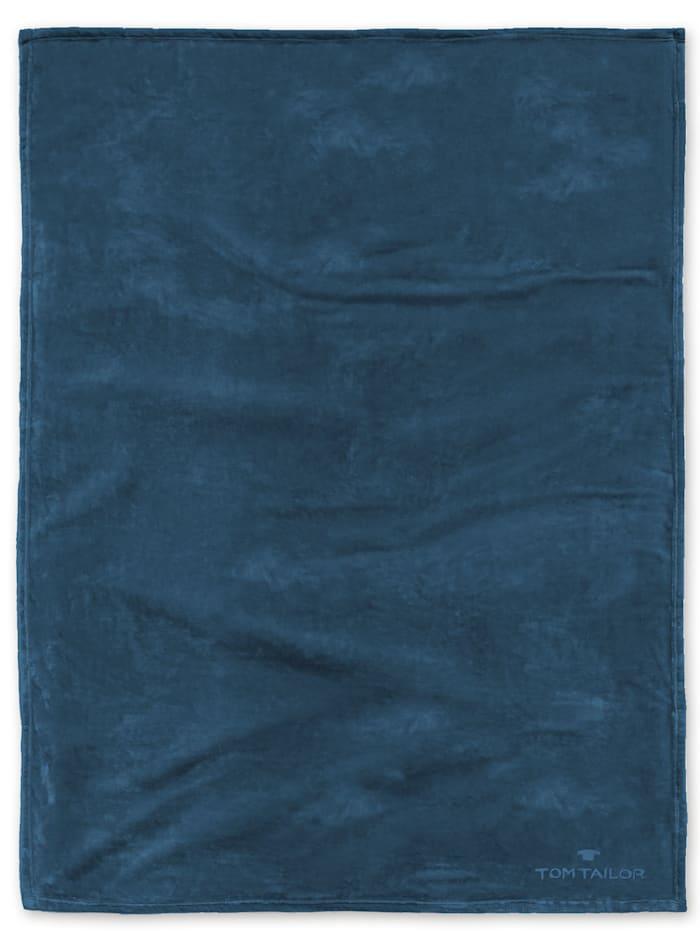 Image of Angorina-Fleece Decke Tom Tailor petrol