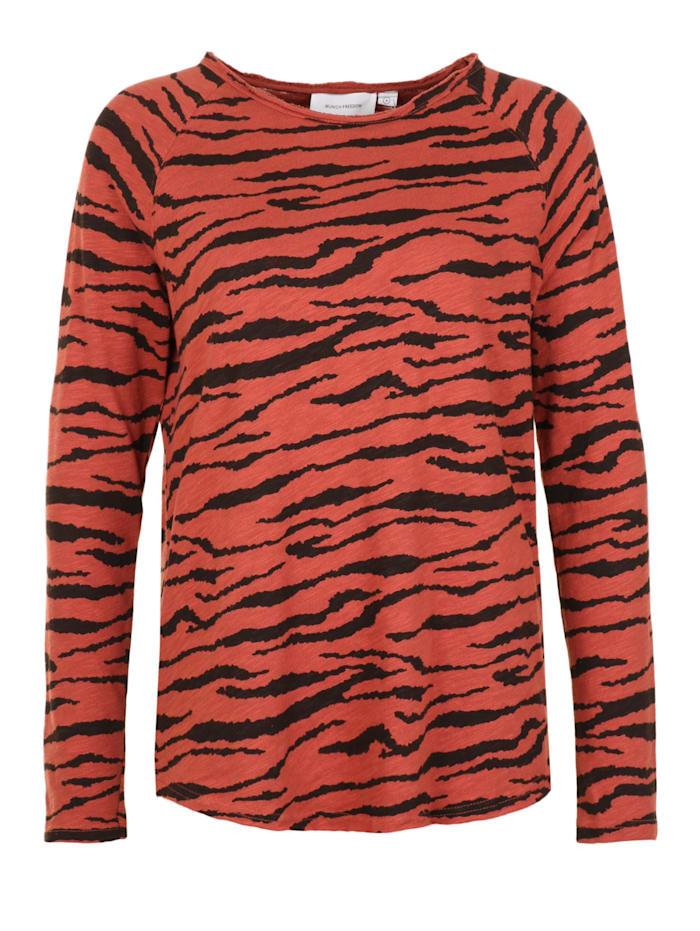 munich freedom - Longsleeve mit Zebramuster  rust zebra
