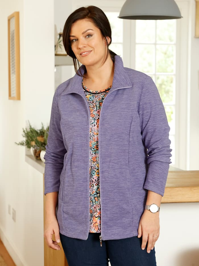 Fleece vest m. collection Lila