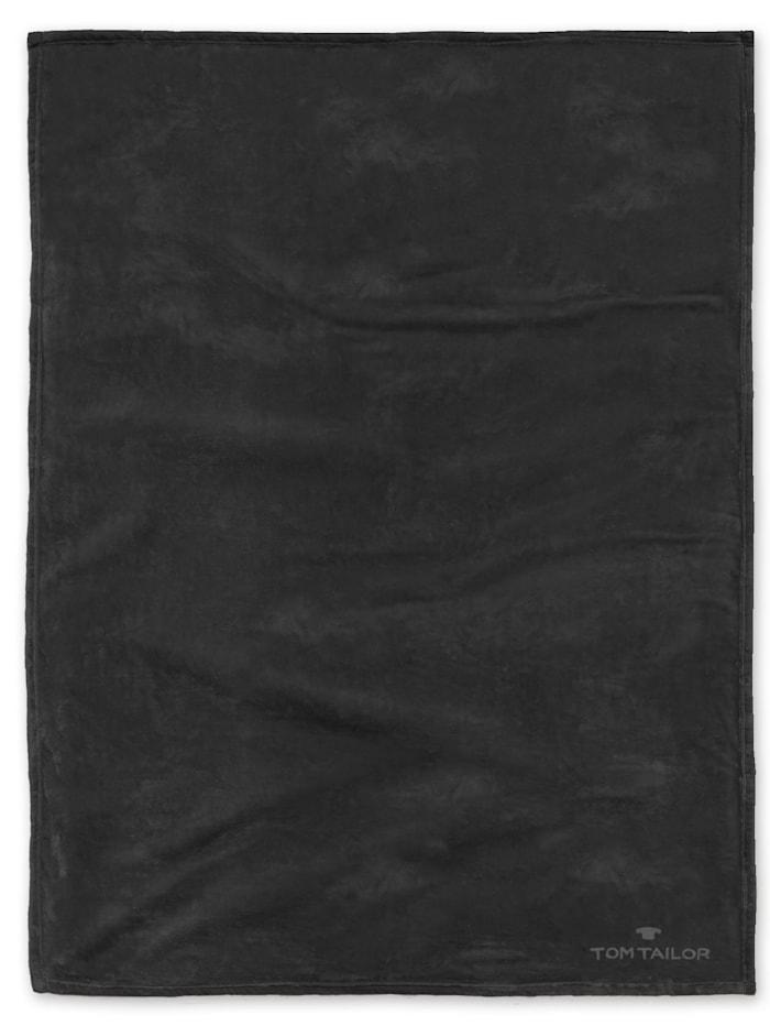 Image of Angorina-Fleece Decke Tom Tailor schwarz