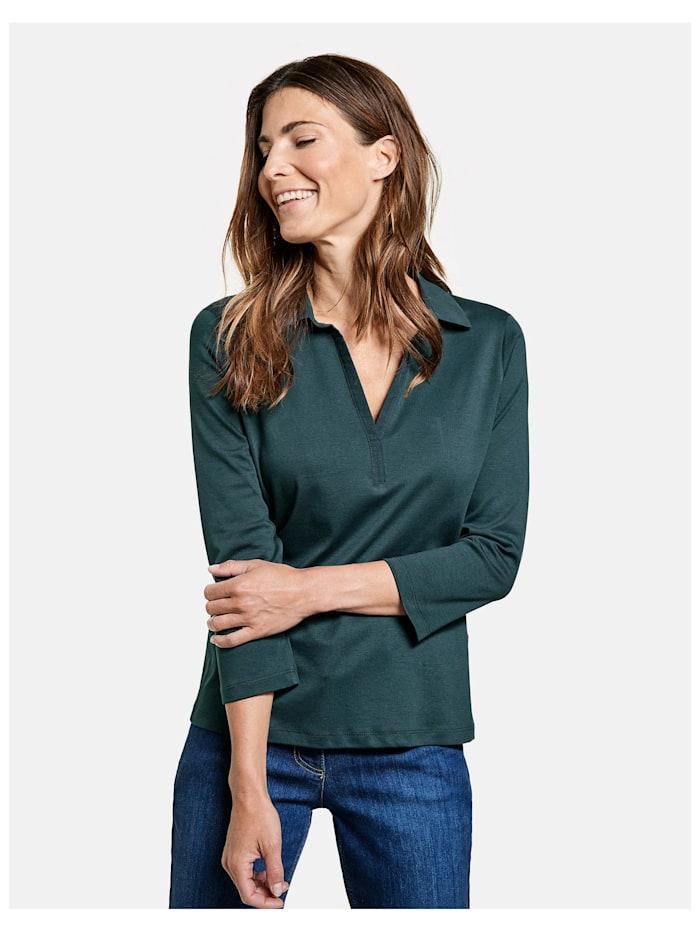 gerry weber - 3/4 Arm Polo-Shirt  Smaragd Grün