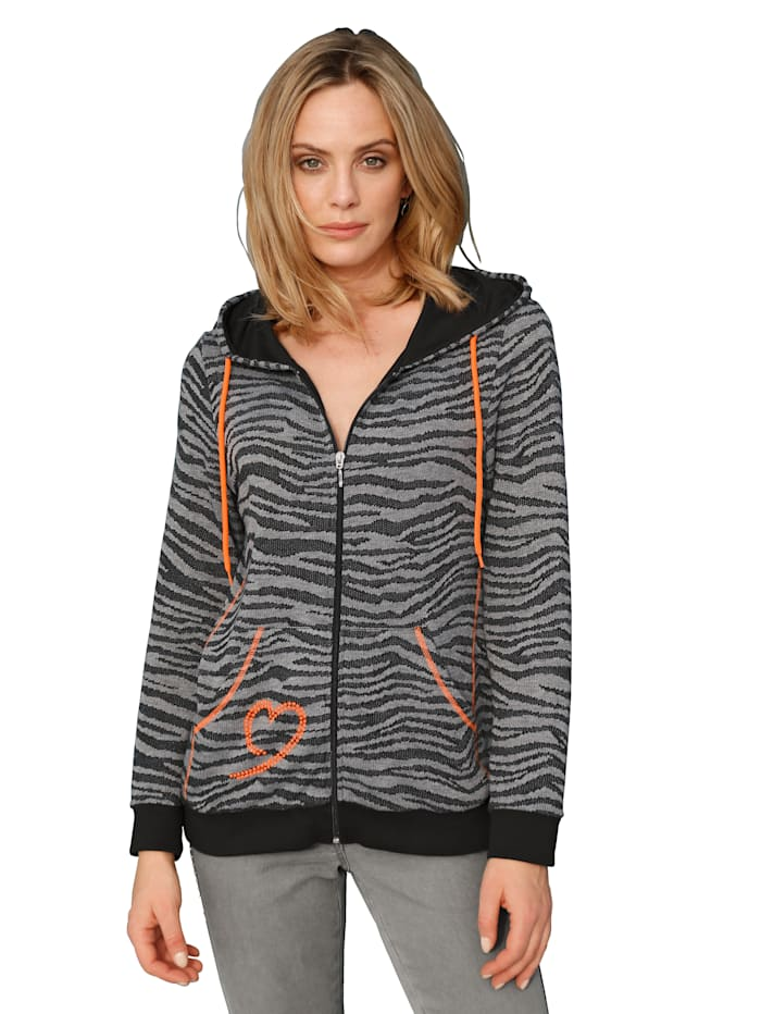 amy vermont - Sweatjacke  Schwarz::Grau::Orange