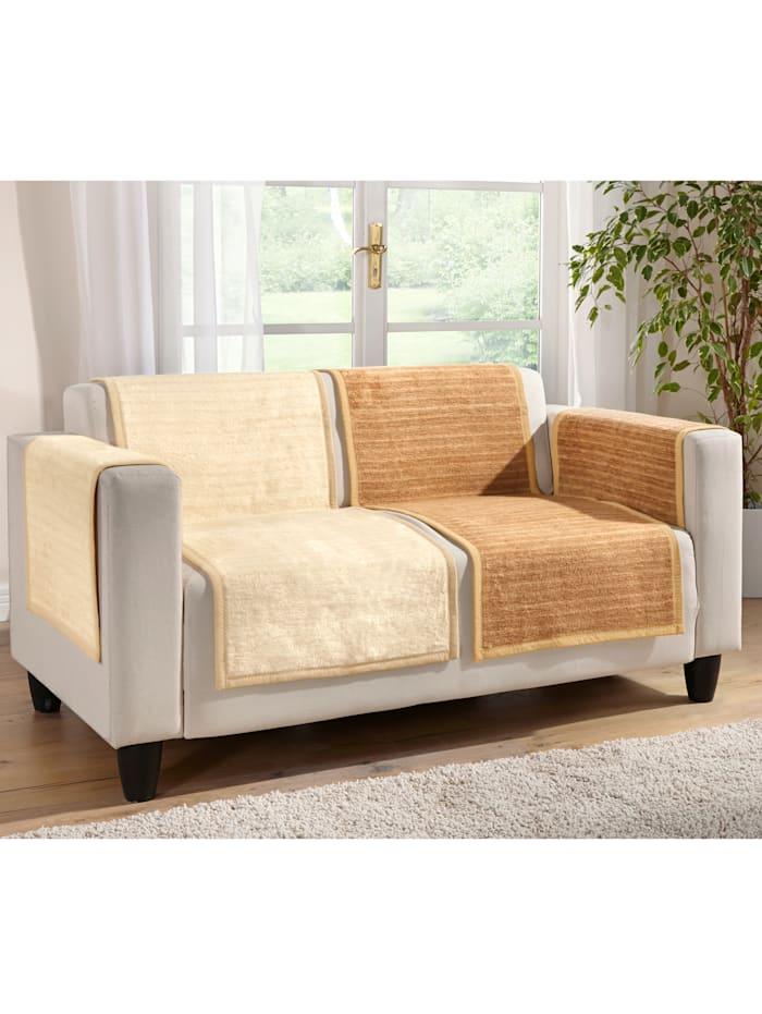 Jacquard meubelbeschermers Fano Ibena wolwit