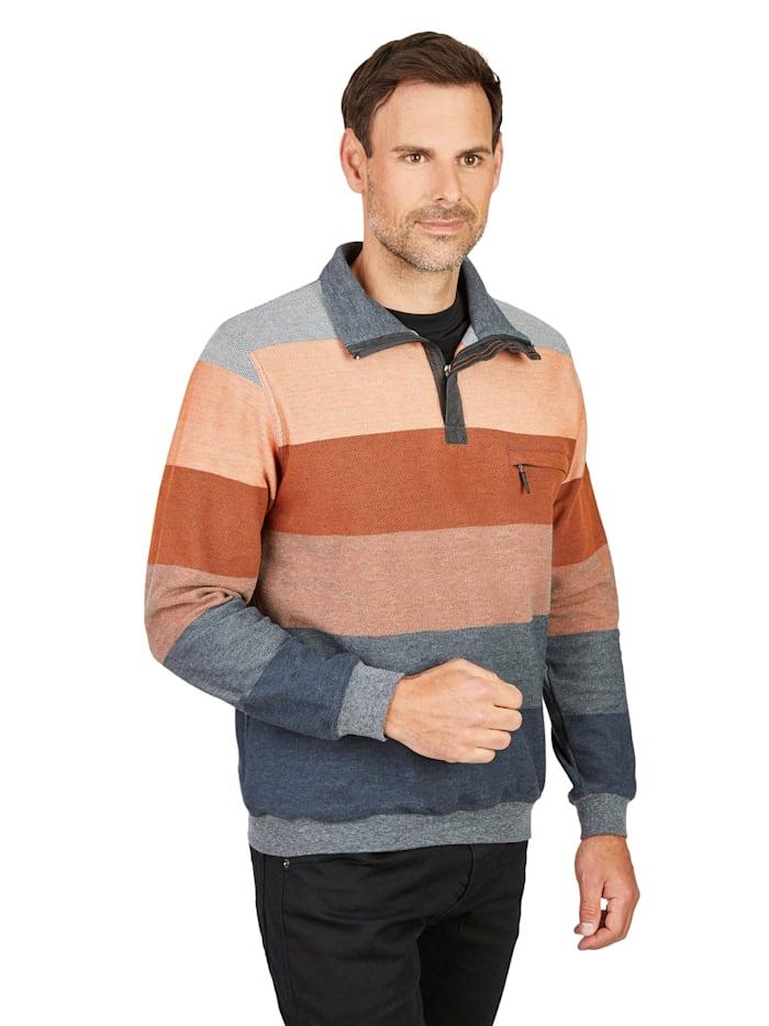 Pikee-Sweatshirt Hajo zimt
