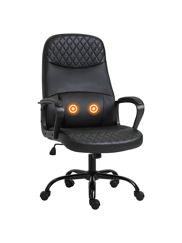 Bürostuhl mit Massagefunktion Vinsetto schwarz