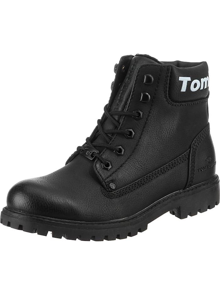 tom tailor - Schnürstiefeletten  schwarz