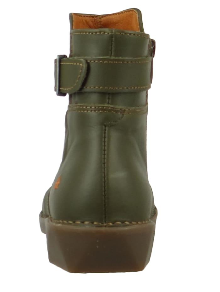 *art - Damen Leder Stiefelette Ankle Boot Bergen Kaki Grün 0917  Kaki