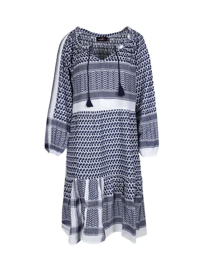 zwillingsherz - Sommerkleid Kleid Valentina  blau/ weiß