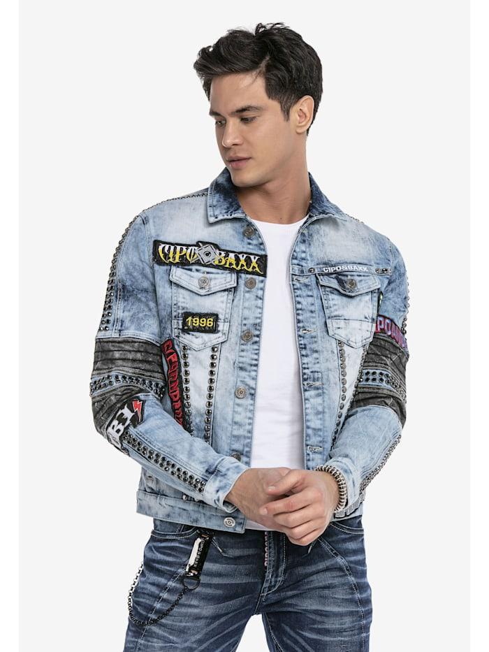 cipo & baxx - Jeansjacke in ausgefallener Optik  BLUE