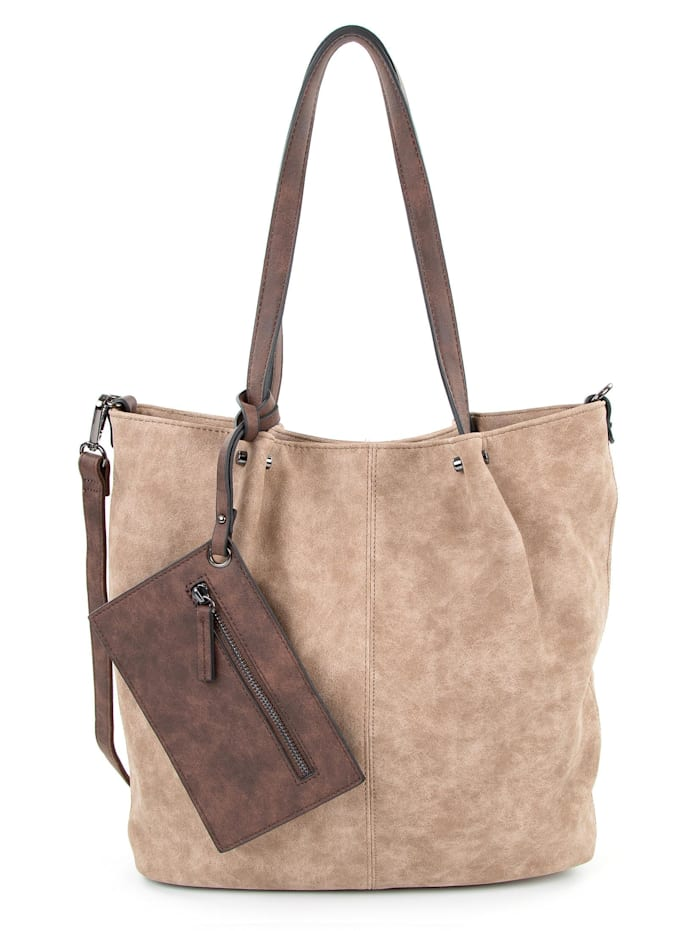 emily & noah -  Shopper Bag in Bag Surprise  taupe brown 902