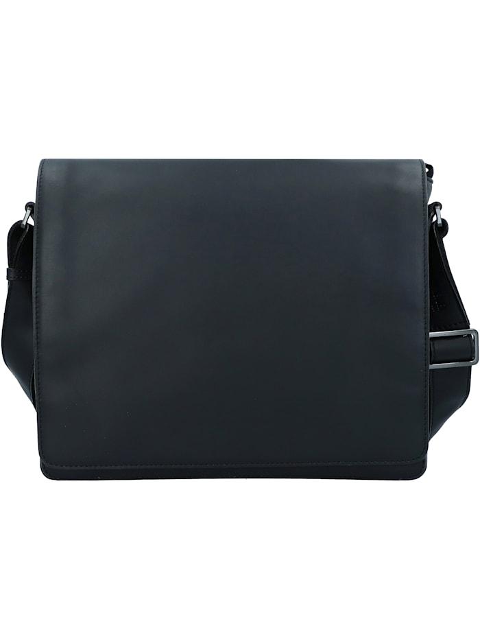 leonhard heyden - Ottawa Messenger RFID Leder 32 cm Laptopfach  schwarz