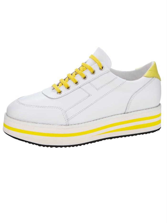 Sneaker WENZ Wit::Geel