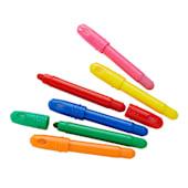 Gel-Wachsmalstifte 6-tlg. Basic Farben, besonders weich und leicht zu handhaben, Kunststoff Vorderansicht
