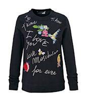Sweatshirt, Stickereien, Schriftzug, Casual Vorderansicht