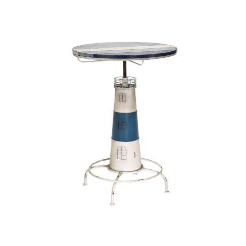 Bistrotisch Leuchtturm, Maritimer Look, ca. H89 cm Vorderansicht