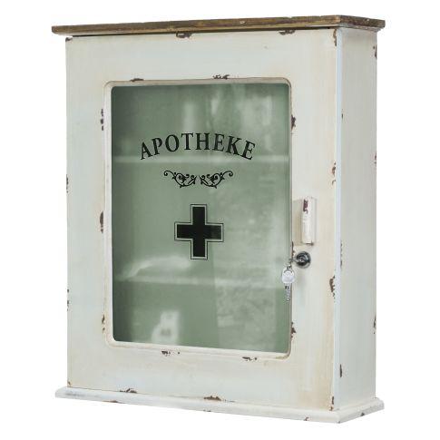 medizinschrank abschlie bar shabby chic holz ca b47 x t15 x h55 cm. Black Bedroom Furniture Sets. Home Design Ideas