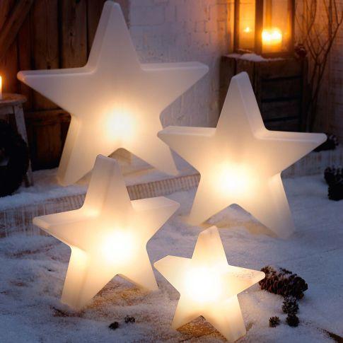 Deko objekt stern shiny beleuchtet outdoorgeeignet for Schreibtisch 1m tief