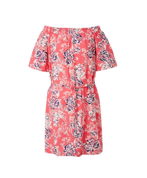 Offshoulder-Kleid, floraler Print, Carmenausschnitt, Comfort Fit, Romantik-Look Vorderansicht