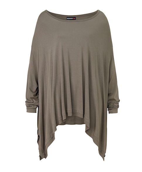 T-Shirt, fließend, oversized Vorderansicht