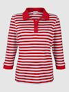 Poloshirt in Streifenoptik