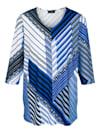 Tričko v rafinovaném proužkovém vzhledu