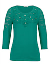 Pullover mit dekorativer Steinchenzier