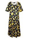 Kleid mit hübschem Blumen- und Tupfen-Druckmuster