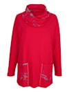Sweatshirt mit halsfernem Kragen